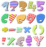Comic numbers Royalty Free Stock Photo