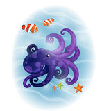 Comic Octopus Royalty Free Stock Photo