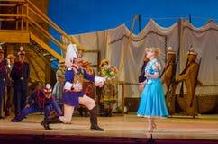 Comic opera Love drink. DNIPRO, UKRAINE - JUNE 24, 2017: Comic Opera Love drink performed by members of the Dnipro Opera and Ballet Theatre Royalty Free Stock Image