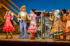 Comic opera Love drink. DNIPRO, UKRAINE - JUNE 24, 2017: Comic Opera Love drink performed by members of the Dnipro Opera and Ballet Theatre Royalty Free Stock Photography