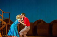 Comic opera Love drink Stock Images