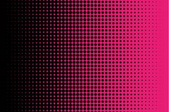Comic pattern. Halftone background. Pink and black color. Dotted retro backdrop, panels with dots, points, circles, rounds. Royalty Free Stock Images