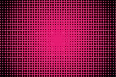 Comic pattern. Halftone background. Pink and black color. Dotted retro backdrop, panels with dots, points, circles, rounds. Royalty Free Stock Photo