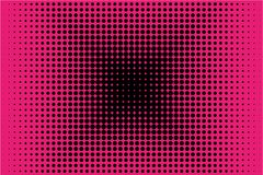 Comic pattern. Halftone background. Pink and black color. Dotted retro backdrop, panels with dots, points, circles, rounds. Stock Images
