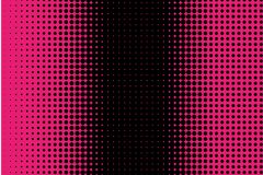 Comic pattern. Halftone background. Pink and black color. Dotted retro backdrop, panels with dots, points, circles, rounds. Stock Photography