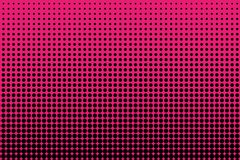 Comic pattern. Halftone background. Pink and black color. Dotted retro backdrop, panels with dots, points, circles, rounds. Stock Photo