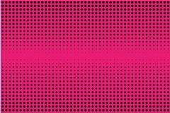 Comic pattern. Halftone background. Pink and black color. Dotted retro backdrop, panels with dots, points, circles, rounds. Royalty Free Stock Photography
