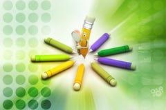 Comic pencils Stock Image