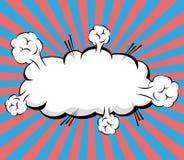 Comic Pop art bubble Royalty Free Stock Images