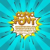Comic pop art comic font vector illustration Royalty Free Stock Image