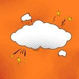 Comic pop-art speech bubble illustration Stock Photos