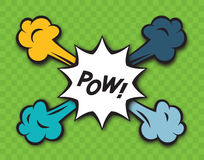 Comic Pow Explosion Royalty Free Stock Photos