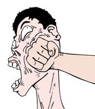 Comic punch Stock Images