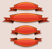 Comic Red Circus Banners And Ribbons Royalty Free Stock Images