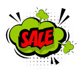 Comic red sound effects pop art word sale Royalty Free Stock Photos