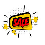 Comic red sound effects pop art word sale Royalty Free Stock Photo
