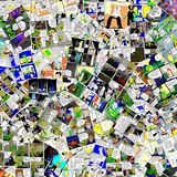 Comic Revolution. Mosaic composed of hundreds of pages of comic Royalty Free Stock Photo