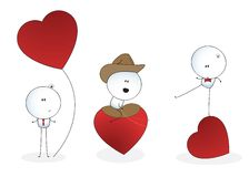 Comic with romantic man Stock Photos