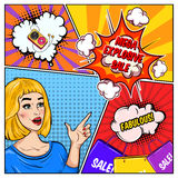 Comic Sale Colorful Template Royalty Free Stock Image