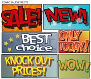Comic sales effects Stock Image