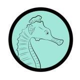Comic Seahorse Creature Face Closeup Vector Royalty Free Stock Photo