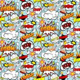 Comic Seamless Pattern Stock Image
