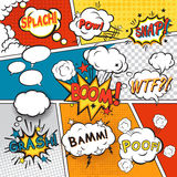 Comic set bubbles Royalty Free Stock Photos