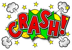 Comic sound effect crash Stock Images