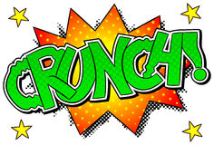 Comic sound effect crunch Stock Images
