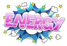 Comic sound effect energy Stock Image