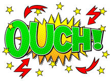 Comic sound effect ouch Royalty Free Stock Photo