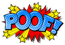 Comic sound effect poof Stock Image