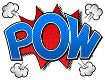 Comic sound effect pow. Vector illustration of a comic sound effect pow Stock Photos