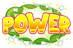 Comic sound effect power Royalty Free Stock Images