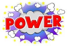 Comic sound effect power Stock Photo
