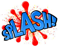 Comic sound effect splash Royalty Free Stock Photo