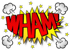 Comic sound effect wham Stock Image
