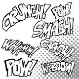 Comic Sound Effects royalty free illustration