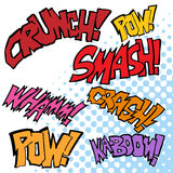 Comic Sound Effects. An image of comic sound effects Stock Photography