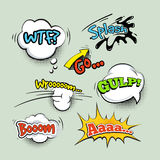 Comic sound effects cartoon vector set Royalty Free Stock Photo