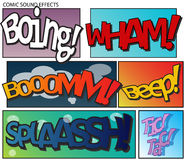 Comic sound effects Stock Photos