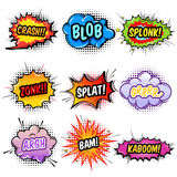 Comic Sound Effects Set royalty free illustration