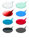 Comic Speak. A wide variety of comics dialogue buttons for web and programs Royalty Free Stock Photos