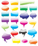 Comic Speak Talk Message Speech Bubble Illustration Shape Blank Element Isolated Cloud Icon Sign Vector Glossy Think Chat Dialog Royalty Free Stock Photo