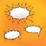 Comic speech bubble art background Stock Photos