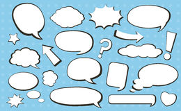 Comic speech bubble Stock Photography