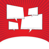 Comic speech bubble, comic backgound Royalty Free Stock Image