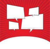 Comic speech bubble, comic backgound Royalty Free Stock Image