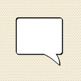 Comic speech bubble on dot background, stock vector illustration. Eps 10 Stock Image