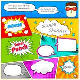 Comic Speech Bubble. Illustration of colorful comic speech bubble in vector Royalty Free Stock Photos